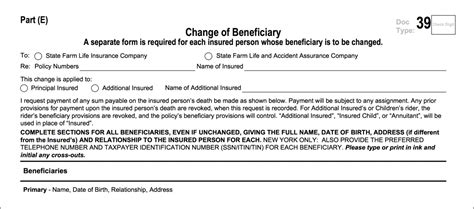 state farm disability claim form change life beneficiary