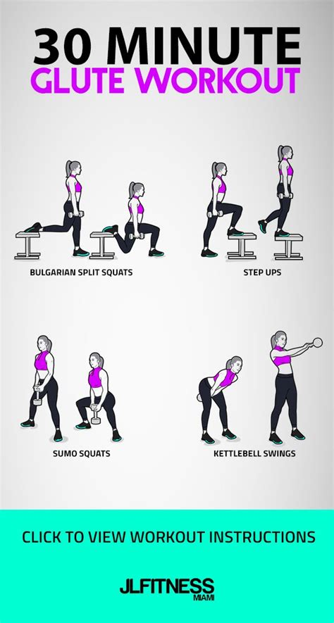 glute kettlebell workout step minute