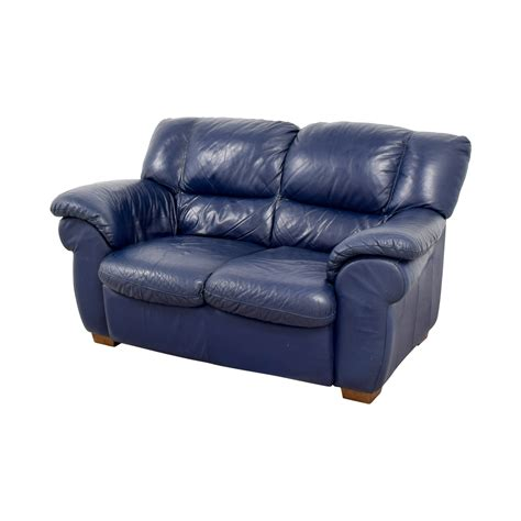 macy s sofas and loveseats 80 off macy 39 s macy 39 s navy blue leather loveseat sofas