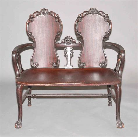 Stickley Settee by Antique Stickley Brandt Mahogany Settee Original Finish