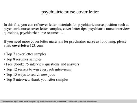 Psychiatric Cover Letter by Psychiatric Cover Letter