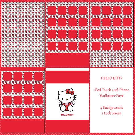 Hello Kitty Wallpaper Pack For Ipod And Iphone By Sleepy