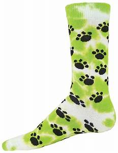 Volleyball Socks Tie Dye Paws Paws Crew Socks by Red Lion
