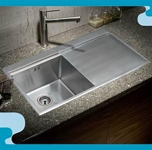 evier inox 1 bac ref salle de bain plomberie With salle de bain design avec evier 1 bac resine