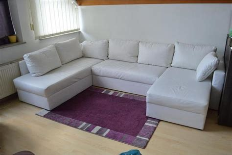 Große Couch Weiß Kunstleder U-form In Deggendorf