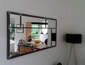 Grand Miroir Industriel : miroir rectangulaire industriel hungry box ~ Melissatoandfro.com Idées de Décoration