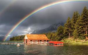 Rainbow And Dark Clouds Awesome Scenery Hd Wallpaper 01544 ...