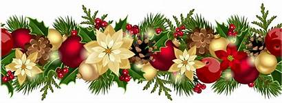 Christmas Wreath Clip Border Garland Clipart Garlands