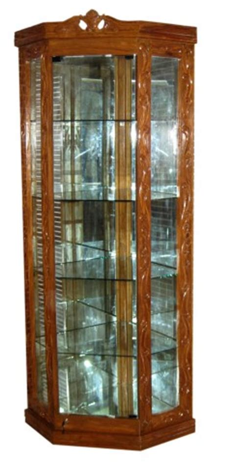 stylish corner showcase  shelf solid tick furniture chf