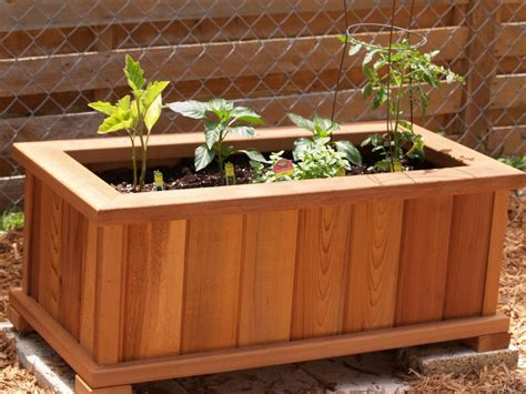 building planter boxes how to build a planter box from an fence