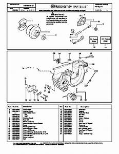 Husqvarna 142 Chainsaw Spare Parts Manual  2001 2002 2003