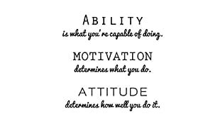 Amazon.com: Inspirational Attitude Vinyl Wall Decal Quotes