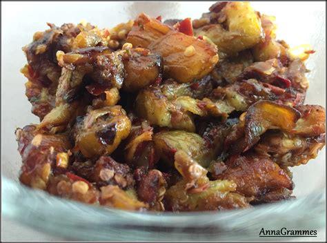 cuisiner aubergine poele salade d aubergines harissa annagrammes cuisine