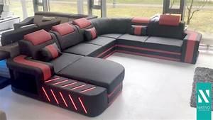 Sofa Mit Boxen Und Led : nativo m bel schweiz designer sofa space xxl mit led beleuchtung youtube ~ Bigdaddyawards.com Haus und Dekorationen