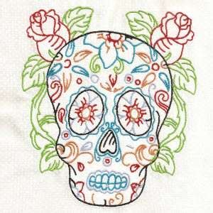 Buy Individual Embroidery Designs From The Set Candy Skulls