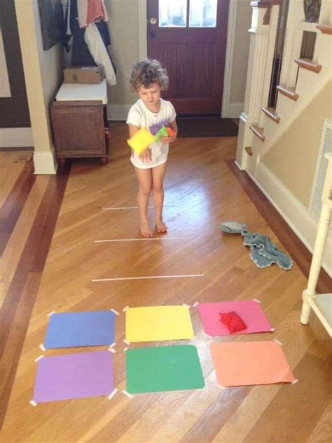 easy indoor activities rainy day activities snow day 194 | Make your own indoor bean bag toss game
