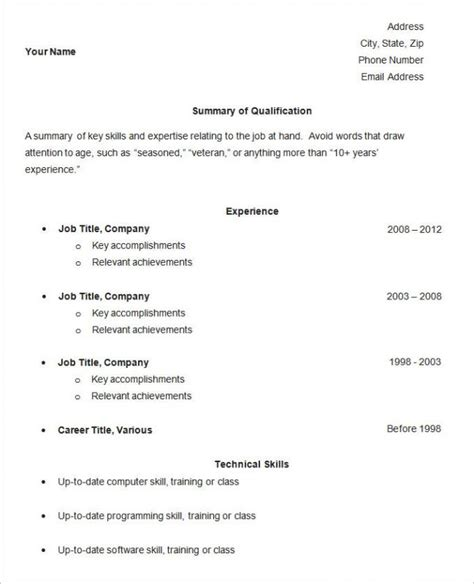 easy resume template template business
