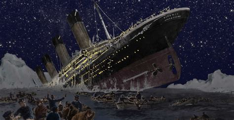 where did the titanic sink the sinking of rms titanic