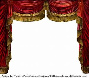 paper theater curtain ruby by eveyd on deviantart With ceiling drapes png