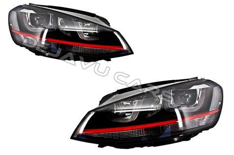 interieur golf 7 gti golf 7 gti headlights xenon 3d u led drl original look golf 7 dejavu cars
