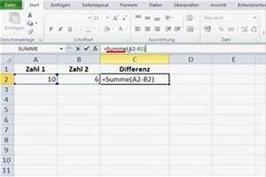 Excel Formeln Automatisch Berechnen : video in excel eine differenz berechnen so geht s ~ Themetempest.com Abrechnung