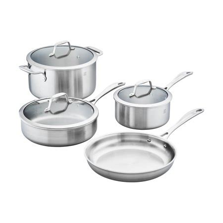 Zwilling Spirit 3ply 7pc Stainless Steel Cookware Set
