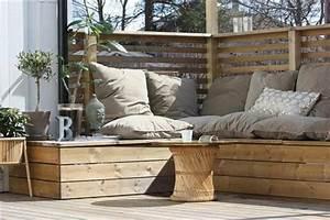 Canape De Jardin En Bois : am nagement de patio dans votre cour int rieure en 22 id es ~ Dallasstarsshop.com Idées de Décoration