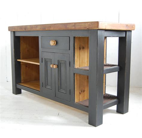 kitchen islands wood reclaimed wood kitchen island cupboard by eastburn country