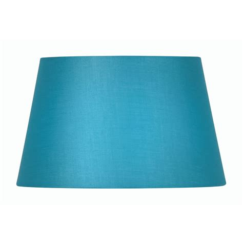blue drum l shade blue cotton drum l shade 8 inch s901 8bl oaks lighting