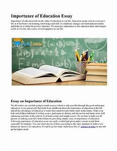 Importance of education essay can you write a dissertation