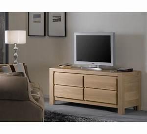 Meuble Tele Haut : meuble tv haut chene ~ Teatrodelosmanantiales.com Idées de Décoration