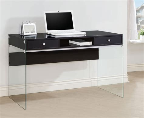coaster computer desk black coaster 800830 computer desk glossy black 800830 at