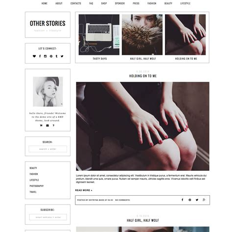 Blog In From Oter Template by Template Other Stories Templates