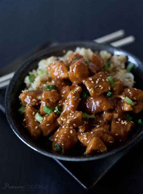 cooker chicken recipes pressure cooker honey sesame chicken recipe
