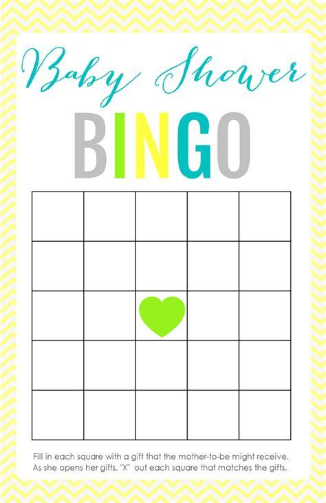 bingo template printable baby shower the creative