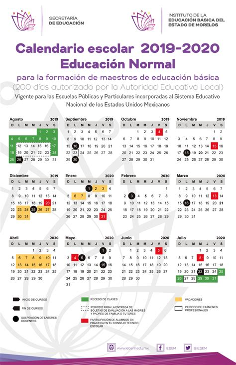 calendario escolar estatal ciclo escolar