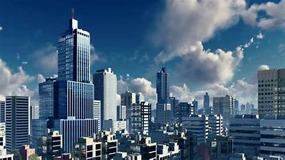 Buildings Rise Downtown Sky Skyscrapers Skyline 4k