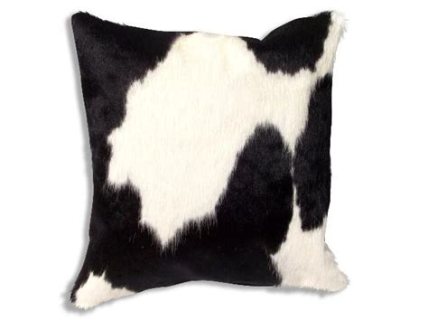 Cowhide Pillow Cover by New Leather Cowhide Pillow Cover Hair On Cushion 20x20 Ebay