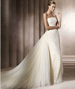 wedding dresses with detachable train With train wedding dress
