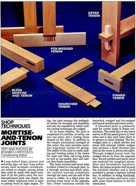 mortise  tenon joints woodarchivist