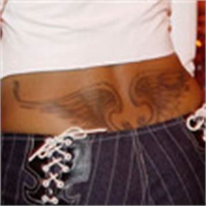 Taraji P. Henson Wings Tattoo - Taraji P. Henson Tattoos ...