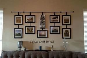 Wall Décor Curtain Rod with Hanging Frames Texas Craft House