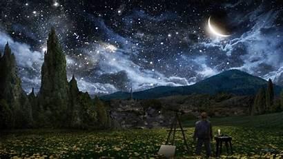 Starry Sky Night Animated Gifs Gogh Google
