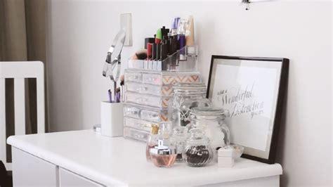 bureau maquilleuse boîte rangement maquillage idées à réaliser soi même