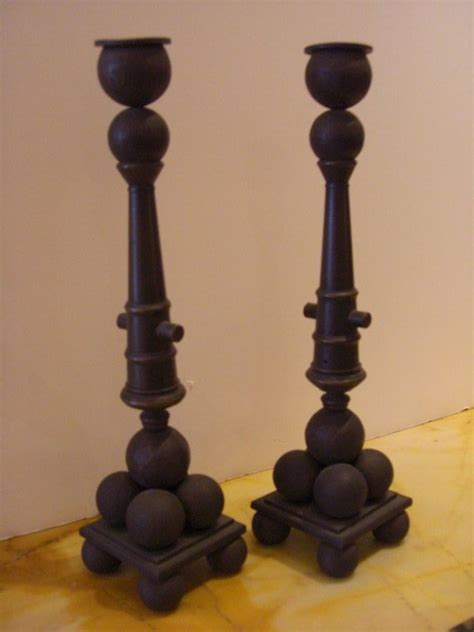 candlestick ls for sale bronze pair of cannon and cannonbal candlesticks for sale