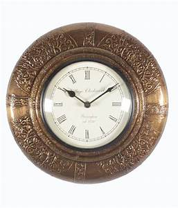 Homeandbazaar traditional rajasthani wall clock with for Traditional wall clocks india