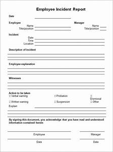best photos of employee incident report template With hr incident report template