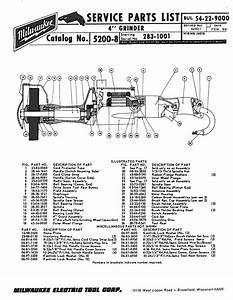 Milwaukee Grinder Wiring Diagram