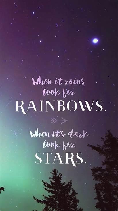 Mobile Phone Inspirational Rainbows Wallpapers Rains Positive