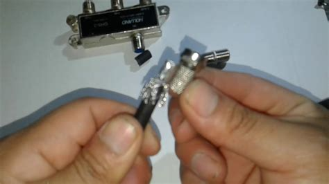 como instalar conector coaxial hembra a un cable coaxial
